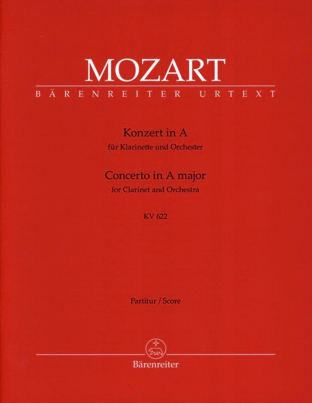 Concerto pour clarinette en La Majeur KV 622 - Conducteur - laflutedepan.com