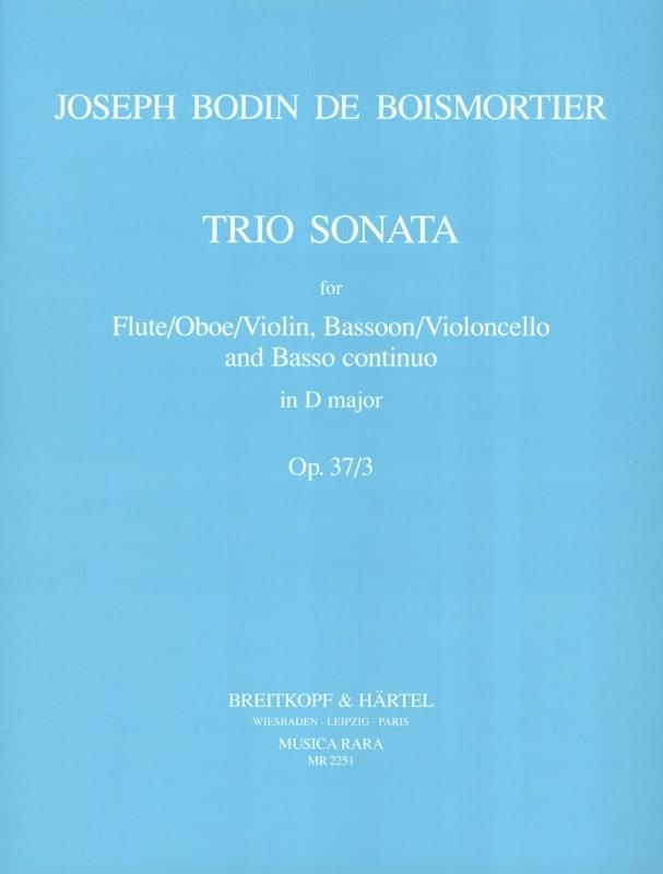 Trio Sonata D major op. 37 n° 3 -Flute Bassoon Bc - laflutedepan.com