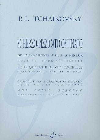 Scherzo-Pizzicato Ostinato - quatuor cellos - laflutedepan.com