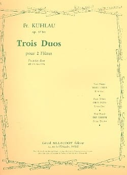 3 Duos op. 57bis - 1er Duo - 2 Flûtes Friedrich Kuhlau laflutedepan