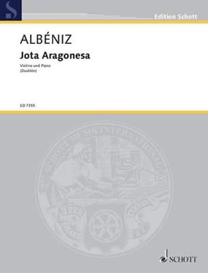 Jota Aragonesa ALBENIZ Partition Violon - laflutedepan