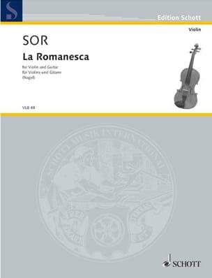 La Romanesca - Violon guitare SOR Partition 0 - laflutedepan