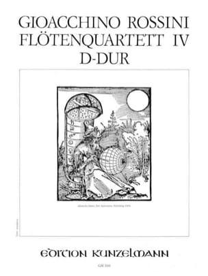 Flötenquartett Nr. 4 D-Dur - Stimmen ROSSINI Partition laflutedepan