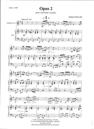 Opus 2 - Naulais Jérôme - Partition - Clarinette - laflutedepan.com