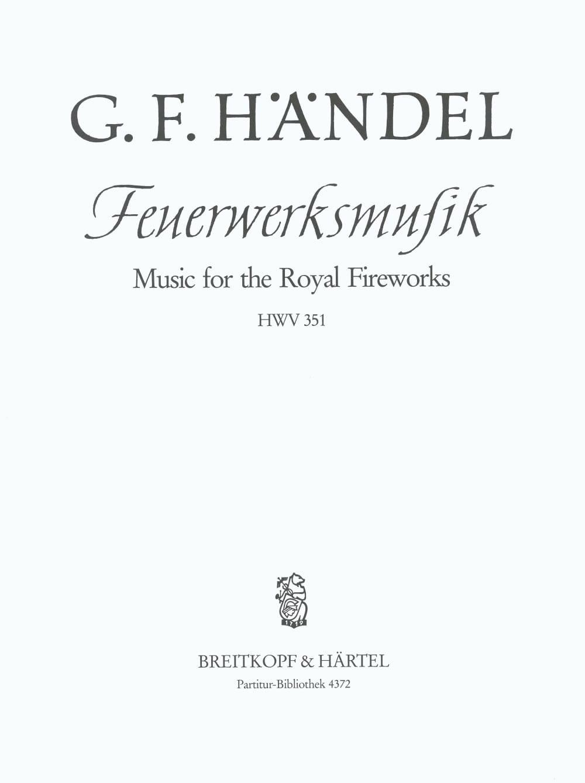 Feuerwerksmusik D-Dur - HAENDEL - Partition - laflutedepan.com