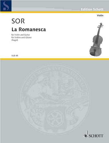 La Romanesca - Violon guitare - SOR - Partition - 0 - laflutedepan.com