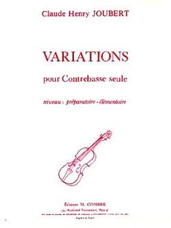 Variations - Contrebasse Claude-Henry Joubert Partition laflutedepan