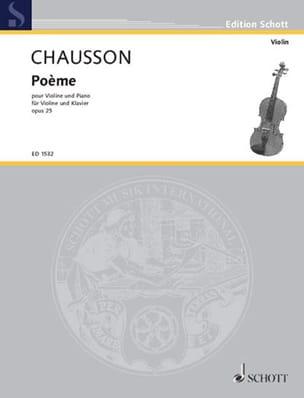 Poème op. 25 CHAUSSON Partition Violon - laflutedepan