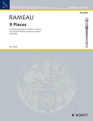 Nine Pieces RAMEAU Partition Flûte à bec - laflutedepan