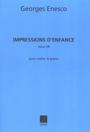 Impressions d'enfance op. 28 ENESCO Partition Violon - laflutedepan