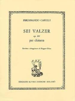 6 Walzer op. 101 -Chitarra Ferdinando Carulli Partition laflutedepan