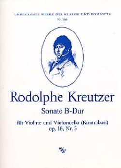 Sonate B-Dur op. 16 n° 3 Rodolphe Kreutzer Partition 0 - laflutedepan