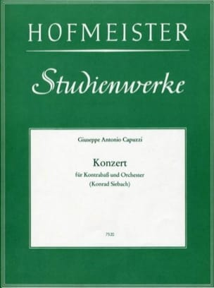 Konzert - Kontrabass Giuseppe Antonio Capuzzi Partition laflutedepan