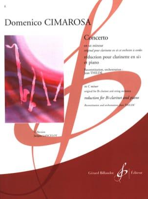 Concerto pour Clarinette en ut mineur CIMAROSA Partition laflutedepan