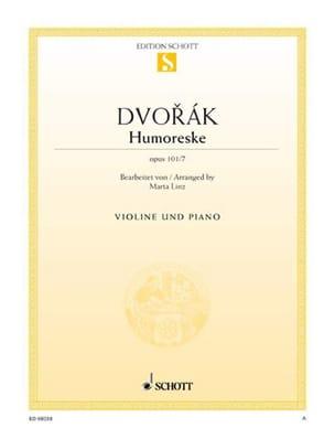 Humoreske op. 101 n° 7 DVORAK Partition Violon - laflutedepan