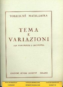 Tema e variazioni Yoritsuné Matsudaira Partition laflutedepan