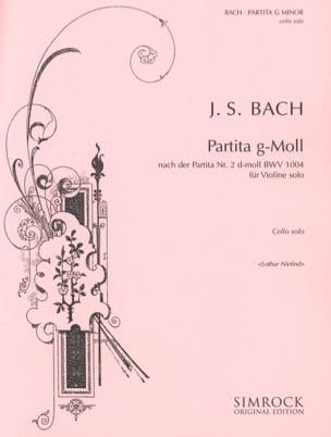 Partita g-moll - Cello Solo BACH Partition Violoncelle - laflutedepan