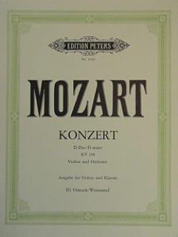Concerto en Ré Majeur Kv 218 - MOZART - Partition - laflutedepan.com