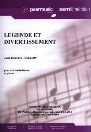 Légende et Divertissement Jules Semler-Collery Partition laflutedepan