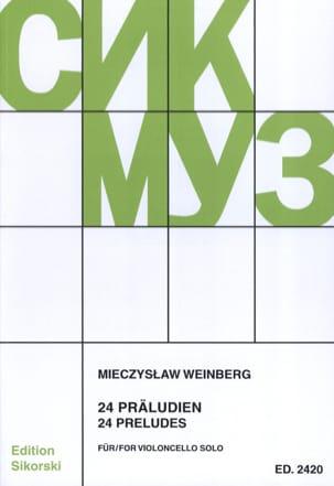 24 Préludes Mieczyslaw Weinberg Partition Violoncelle - laflutedepan
