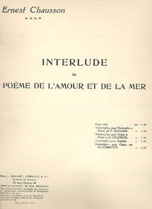 Interlude du Poème de l'amour et de la mer - laflutedepan.com