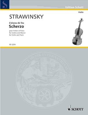 Scherzo STRAVINSKY Partition Violon - laflutedepan