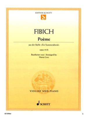Poème op. 41 n° 6 - Violine Zdenko Fibich Partition laflutedepan
