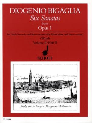 6 Sonatas from op. 1, Volume 2 - Diogenio Bigaglia - laflutedepan.com