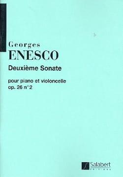Sonate op. 26 n° 2 ut majeur ENESCO Partition laflutedepan