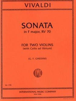 Sonata in F Major F 13 n° 4 VIVALDI Partition Violon - laflutedepan