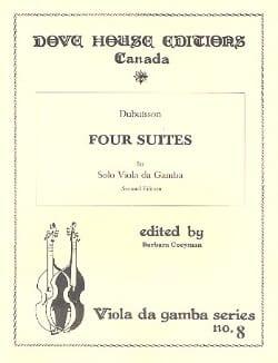 4 Suites - Viole de gambe DuBuisson Partition laflutedepan