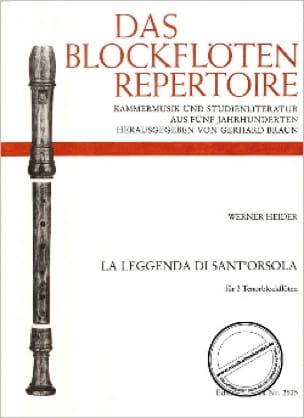 La leggenda di Sant' Orsola -3 Tenorblockflöten - laflutedepan.com