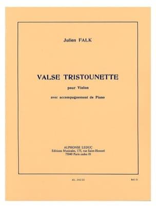 Valse Tristounette Julien Falk Partition Violon - laflutedepan