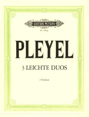 3 Leichte Duos Ignaz Pleyel Partition Violon - laflutedepan