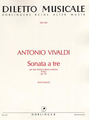 Sonata a tre B-Dur op. 5 n° 5 VIVALDI Partition Trios - laflutedepan