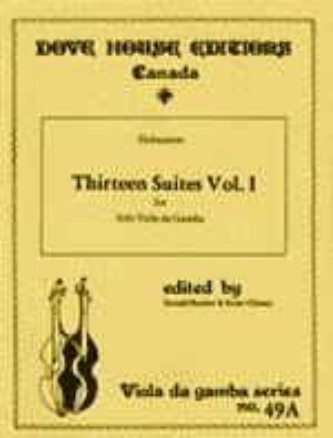 13 Suites - Viola da gamba - Volume 1 n° 1-6 DuBuisson laflutedepan