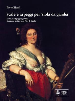 Paolo Biordi - Scale & Arpeggi per Viola da Gamba - Partition - di-arezzo.fr