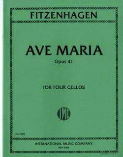 Ave Maria Op.41 Wilhelm K. F. Fitzenhagen Partition laflutedepan