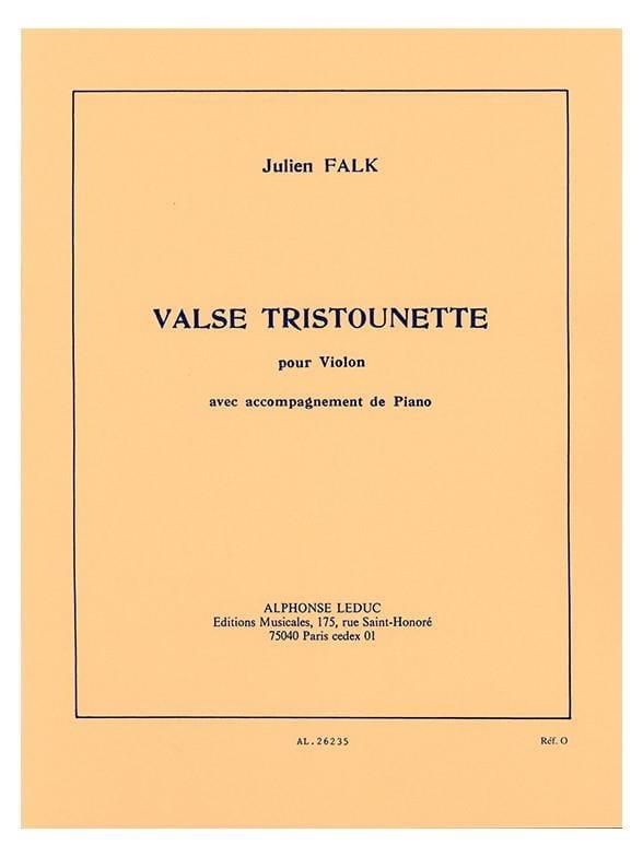 Valse Tristounette - Julien Falk - Partition - laflutedepan.com