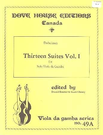 13 Suites - Viola da gamba - Volume 1 n° 1-6 - laflutedepan.com