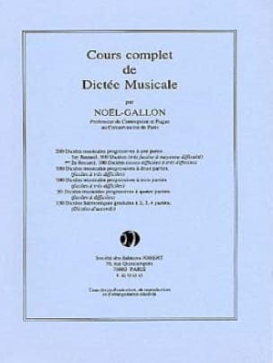 200 Dictées A 1 Partie Volume 2 - Noël Gallon - laflutedepan.com