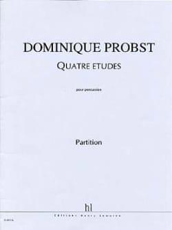 Quatre Etudes Dominique Probst Partition laflutedepan