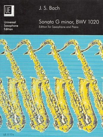 Sonata G Minor BWV 1020 - BACH - Partition - laflutedepan.com