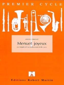 Menuet Joyeux Maurice Faillenot Partition Trompette - laflutedepan