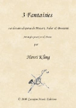 3 Fantaisies - Henri Kling - Partition - Cor - laflutedepan.com