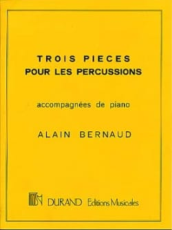 Trois Pièces Pour Percussion Alain Bernaud Partition laflutedepan
