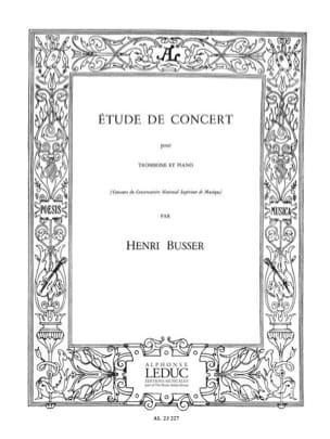 Etude de Concert Henri Busser Partition Trombone - laflutedepan