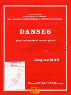 Danses Jacques Mas Partition Trompette - laflutedepan