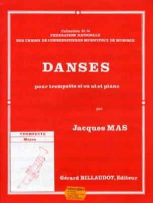 Danses - Jacques Mas - Partition - Trompette - laflutedepan.com