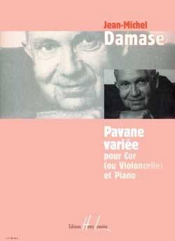 Pavane Variée Jean-Michel Damase Partition Cor - laflutedepan